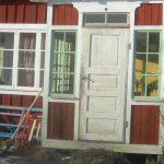 Hus- Gammalthus-trähus-Fläckemyra