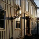 Hus-gammalt hus-Gefle trästad, trähus